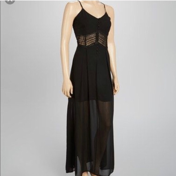 24d53bc1822d3e Anthropologie Dresses | Sans Souci Sheer Black Maxi Dress | Poshmark